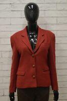 Giacca Donna TRUSSARDI Taglia Size 42 Maglia Blazer Jacket Woman in Lana Rosso