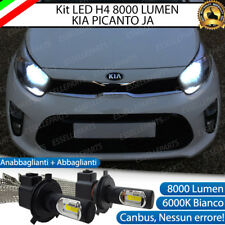 KIT FULL LED KIA PICANTO JA LAMPADE LED H4 6000K BIANCO GHIACCIO NO ERROR 8000LM