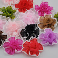 20pcs Sheer ribbon 2tone flowers bows for sewing wedding decoration crafts E79