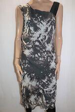 Jacqui E Brand Silhouette Printed Drape Sleeveless Dress Size 14 LIKE NEW #AN02