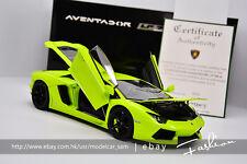 Autoart 1:18 lamborghini Aventador LP700-4 green
