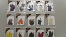 """LOT of 15 packages ass. colors for """" Medium """" DRY FLIES & WET , STREAMERS,wings"""