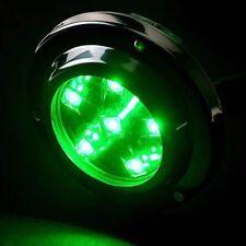 Set of 2 Green Underwater Boat Marine High Intensity Stainless Steel LED lights