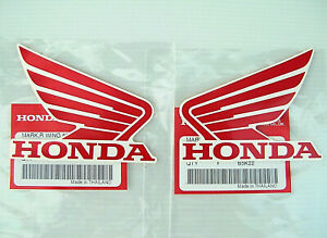 ORIGINAL Honda-CBR Wing Flügel-8,5cm-ROT/WEISS-Tank-Aufkleber-Sticker-85mm