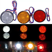 1Pc Car motorcycle red round 24LED brake turn signal stop tail lights reflectoNT