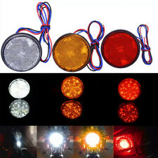 Car motorcycle red round 24LED brake turn signal stop tail lights reflector  ue