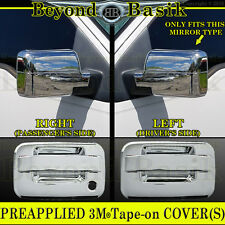 2004-2008 FORD F150 Chrome Door Handles (W/O PSK W/O Keypad 2Door) Mirror Covers