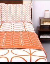 NUOVO CON SCATOLA Orla Kiely Extra Large Set Piumone Copri e federe Stelo Lineare Arancione/Bianco