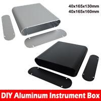 Aluminium Instrument Box Elektronisches Kleingehäuse Gehäuse Grau 40x165x160mm