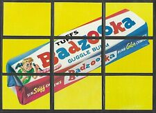 1974 Topps Wacky Packages 10th Series 10 Badzooka Checklist Puzzle 9 Card Set