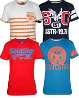 Mens Soul Star Aztec Strips Eagle Graphic Printed T Shirt Casual Cotton Top