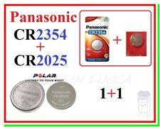 Batterie Litio Lithium Batteries PANASONIC CR2354 + CR2025 x POLAR fascia cardio