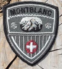 Wappen Montblanc Schweiz Aufnäher Aufbügler Applikation Motiv Patch Embroidery