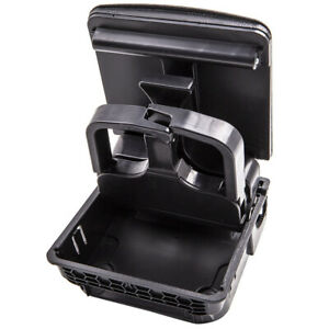 Black Rear Central Armrest Console Cup Holder Fit Golf VW MK5/MK6 Jetta Eos