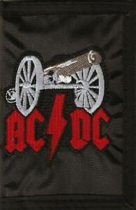 AC/DC Cannon Embroidered Logo Nylon Chain Black Wallet Rock Merchandise