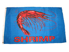 3x5 Advertising Shrimp Blue Seafood Restaurant Flag 3'x5' Banner Grommets