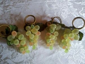 Beaded Grape Cluster & Grape Leaves Napkin Rings from Pier One Imports Set Of 4