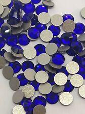 140PCS COBALT BLUE GENUINE SWAROWSKI NON HOT FIX FLAT BACK CRYSTALLS BEADS SS16