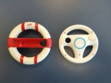 2 Nintendo Wii Steering Wheel for Mario Kart (RVL-024) Genuine OEM & One Nerf