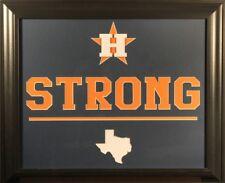 "Houston Astros ""Houston Strong"" 19x23 Custom Framed Display"