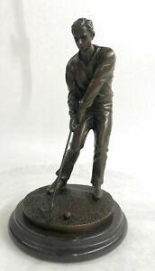 Bobby Jones Golfer Golf Club Collector Sports Memorabilia Bronze Marble Gift NR