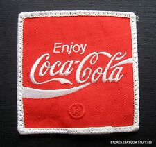 "COCA COLA EMBROIDERED SEW OR IRON ON PATCH BEVERAGE SOFT DRINK  3"" x 3"""