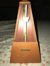 Seth Thomas Metronome De Maelzel Mechanical Wind Up Instrument Speed Beat Timer