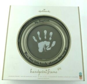 Hallmark My Baptism Handprint Frame Bless These Little Hands New Customizable