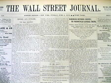 3 original 1912 Wall Street Journal newspapers FINANCIAL NEWS from 105 years ago
