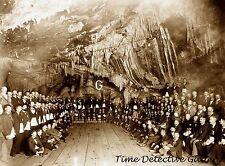 Masonic Meeting in Copper Queen Mine, Bisbee, AZ - 1897 - Historic Photo Print