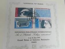 FDC MUSEE POSTAL Hors serie BLOC FEUILLET ARPHILA 75 1er JOUR 06/06/1975 DECARIS