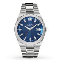 Bulova Men's 96B220 Blue Dial Stainless Steel Watch