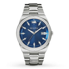 Bulova Men's 96B220 Quartz Blue Dial Silver-Tone Stainless Steel 43mm Watch