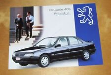 PEUGEOT 405 PRIVILEGE SPECIAL EDITION SALES BROCHURE Sept 1994 BELGIUM In French