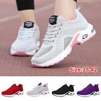 Casual Women Mesh Sneakers Air Cushion Tennis Lightweight Walking Athletic Shoes