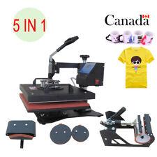 5 IN 1 T-Shirt Cup Hat Heat Press Transfer 38 X 29CM Printing Machine Swing Away