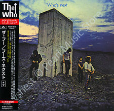 WHO WHO'S NEXT CD MINI LP OBI + bonus tracks Roger Daltrey Pete Townshend new