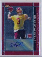 JORDAN PALMER - 2007 Topps Finest Rookie AUTO SP - Redskins RC