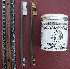 Artifact & Coin Cleaning Kit -  7 oz Renaissance Wax and TWO Brushes