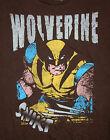 Marvel Comics Classic Wolverine X-Men Comics Brown T-Shirt New LG Tag Mad Engine