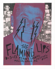 The Flaming Lips Wild Philadelphia 2013 Poster S/N By Artist Ronald Reagan