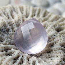 1 top rosenquarz heart briolette perle gebohrt, 14x14x7mm, 8,8 ct., kalibriert