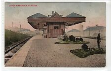 More details for upper greenock railway station: renfrewshire postcard (c22002)