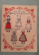 """Vtg Nordic Scandinavian Olde Country Costume Doll Patterns 14&18"""" Doll Uncut New"""