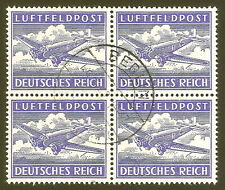 DR Nazi 3rd Reich Rare WW2 Stamp Air Mail Feldpost Aircraft Aviation War Swastka