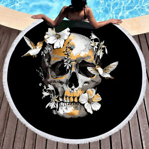 European and American style flower and bird skull pattern beach furniture carpet