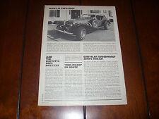 1976 EXCALIBUR SERIES III NEO CLASSIC   - ORIGINAL VINTAGE ARTICLE