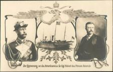Commemorative Royalty PPC 1902 - Prince Henry of Prussia & Thoedore Roosevelt