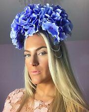 Big Blue hydrangea colgando Diamante Perla Pelo Cabeza Banda Alice Choochie Choo