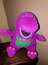 """BARNEY Plush STUFFED ANIMAL SING A LONG """"I LOVE YOU"""" BATTERIES INCLUDED 12 inch"""
